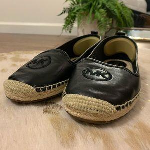 Michael Kors Keli Espadrille black leather shoe